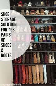 shoe storage solutions for shoe hoarders suzanne carillo