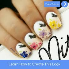 flowers and butterfly nail art u2013 mitty nail art tools u0026 brushes