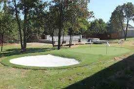 nexgen lawns synthetic grass putting green is featured at street
