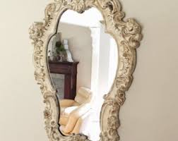 Shabby Chic Large Mirror by Large Ornate Mirror Etsy
