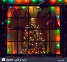 festive christmas house window display stock photos u0026 festive