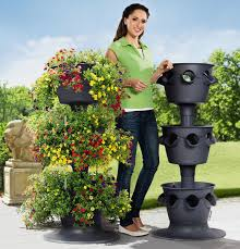 lechuza cascada stackable self watering planters the green head