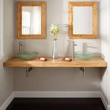 bathroom bamboo bathroom vanity slab vessel awesome bathroom