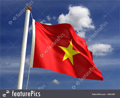 Viet Nam Flag Illustration Of Vietnam Flag With Clipping Path