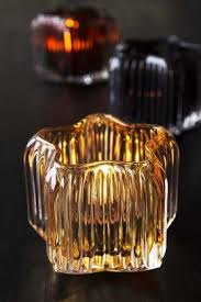 star shaped tea lights golden glow star shaped glass tea light holder home décor