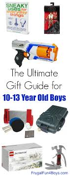 gift ideas for 10 to 13 year boys