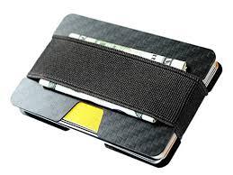 carbon fiber rfid blocking money clip credit business card holder