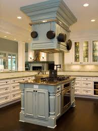 island kitchen hoods this color custom designed stove doubles as pot rack