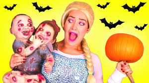 spiderman u0026 frozen elsa halloween prank w joker maleficent