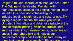 case 580b ck construction king tractor operators manual youtube