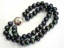 black pearl bracelet images A double strand of superb black pearls jpg