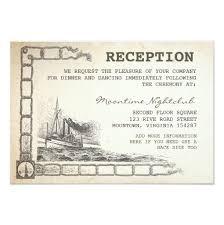 Reception Cards Nautical Vintage Boat Reception Cards 9 Cm X 13 Cm Invitation Card