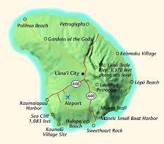 map of hawaii cities lanai city map of lanai hawaii