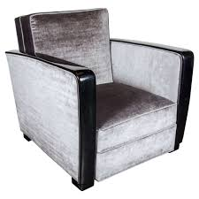 upholstered club chair art deco club chair in black lacquer with velvet upholstery at 1stdibs