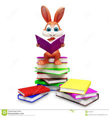 easter bunny book brown easter bunny with reading book stock image image 29456521