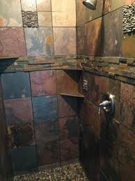 slate tile bathroom ideas best 25 shower ideas on rock shower awesome
