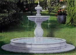 fontane per giardini fontana da giardino in cemento bianco e graniglia cm 325x195h con