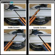 how to cut angles in front corners of hair crown molding how to cut the corners with your miter saw this