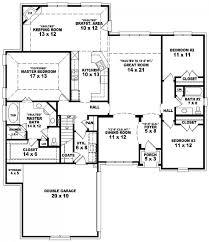 bedroomoor plan modern house plans with three bath split