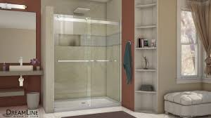 Shower With Door Dreamline Essence Shower Door Sliding Opening