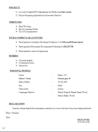 I Want Resume Format Cv Format For Bba Freshers Download