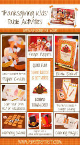 thanksgiving kids table ideas 23 best holiday crafts and decor thanksgiving placemats images on