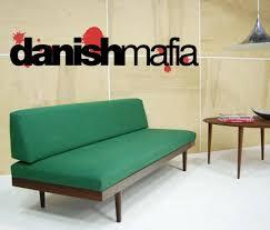 mid century danish modern teak sofa daybed couch eames danish mafia