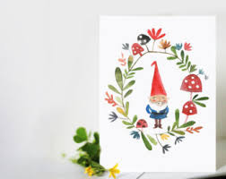gnome card etsy