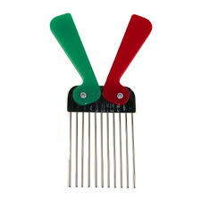 afro comb metal tooth folding afro comb