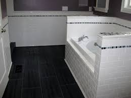 Tile Black And White Marble by Bathroom Gorgeous White Tile Bathroom With Middle Black Line In