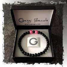 black bracelet pink images Gesgi beads bracelet black pink gbbp4 gesgi store jpg
