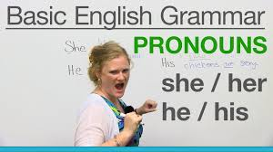 basic english grammar pronouns she her he his youtube