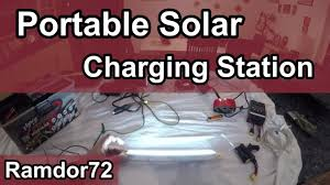 diy portable solar charging station project battery box youtube
