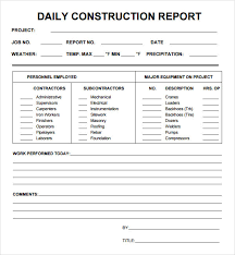 daily site report template daily site report template 4 professional and high quality