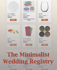 wedding reg the minimalist wedding registry minimal millennial