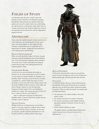 dnd 5e homebrew alchemist class by the middle rpgs like d u0026d