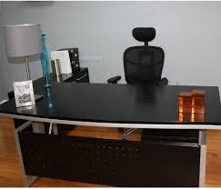 Black Desk With File Drawer Black Modern Desk