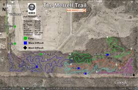 Michigan Trail Maps by Outdoor Michigan Merrell Trail