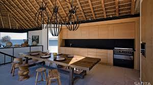 modern tropical kitchen design ocean view contemporary luxury home with thatched roof