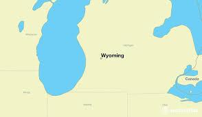 map usa showing wyoming where is wyoming mi wyoming michigan map worldatlas