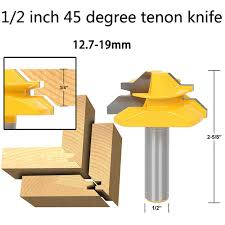 Finger Joints Wood Router by Aliexpress Com Buy 1 2 Inch 45 Degree Tenon Knife Reversible