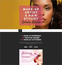 professional makeup artist websites 32 personal website themes templates free premium templates