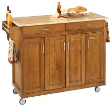 homestyle kitchen island create a cart cottage oak finish with wood top transitional