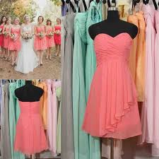 34 best coral bridesmaid dresses images on pinterest chiffon