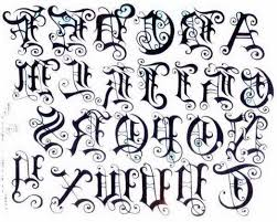 old english tattoo lettering choice image letter examples ideas