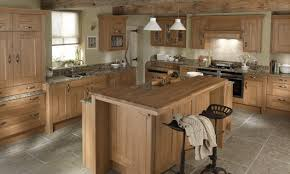 natural wooden kitchen table smooth gray granite countertop plain