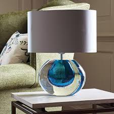 Small Blue Desk Lamp Heathfield U0026 Co Gaia Velvet Blue Table Lamp Houseology