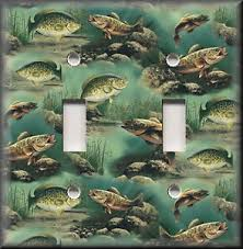 bass fishing home decor metal light switch plate cover bass fishing home decor bass fish