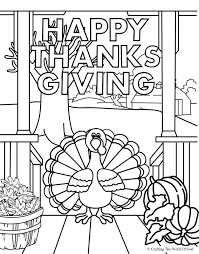 happy thanksgiving 4 coloring page coloring pages are a great way