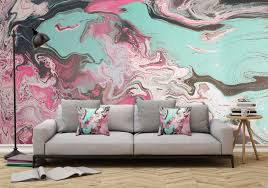 Removable Wall Mural  Wallpaper Abstract Artwork  Fluid Art Pour 1